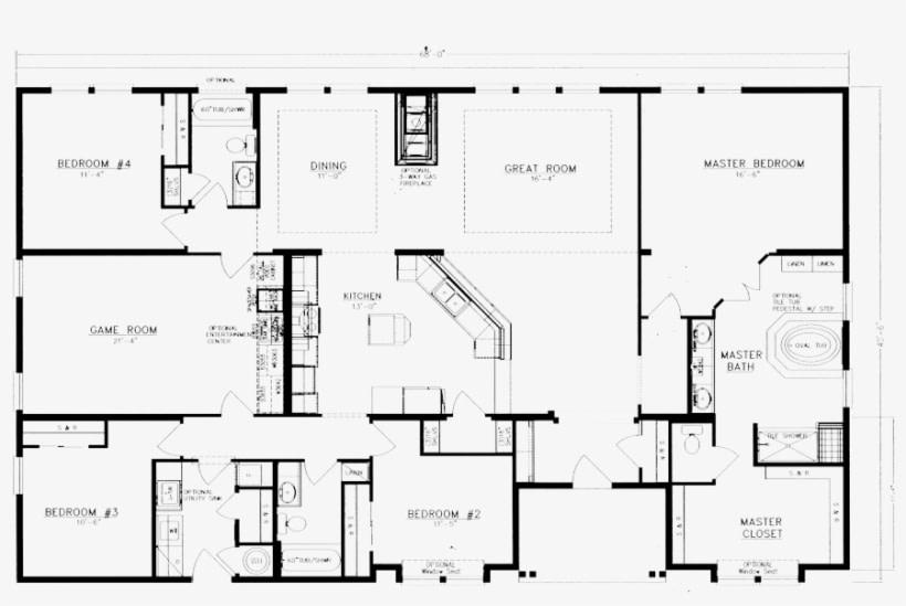 Home Floor Plan - 5 Bedroom Barndominium Floor Plans intended for Barndominium Pictures And Floor Plans