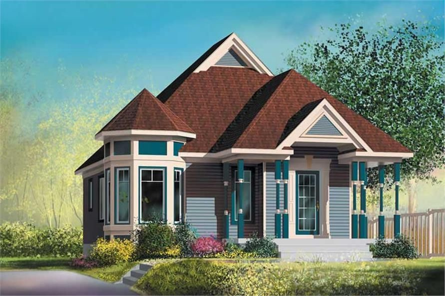 Small, Bungalow, Country House Plans - Home Design Pi in Small Farmhouse Plans With Pictures