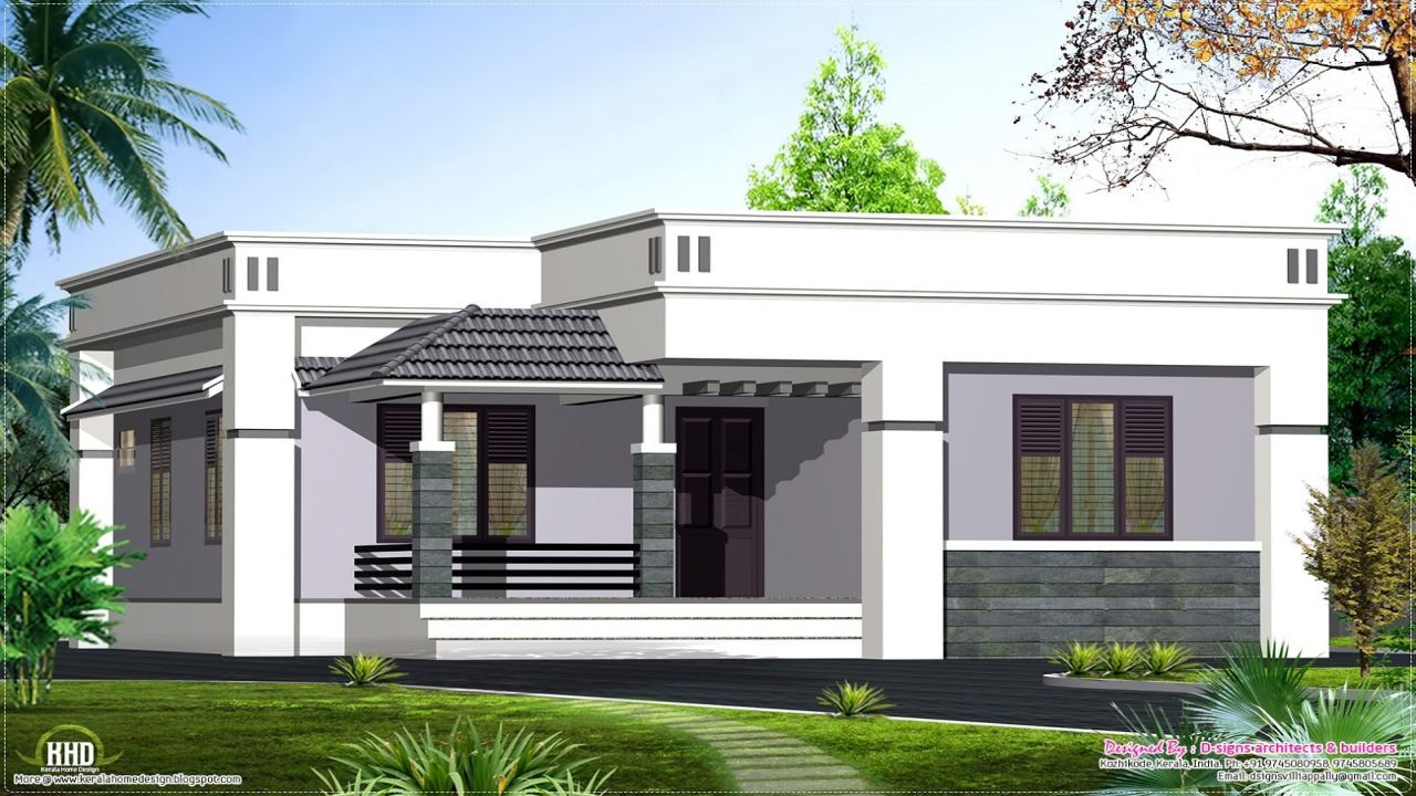 Small House Designs Single Floor House Designs, Small regarding Small One Level Farmhouse Plans