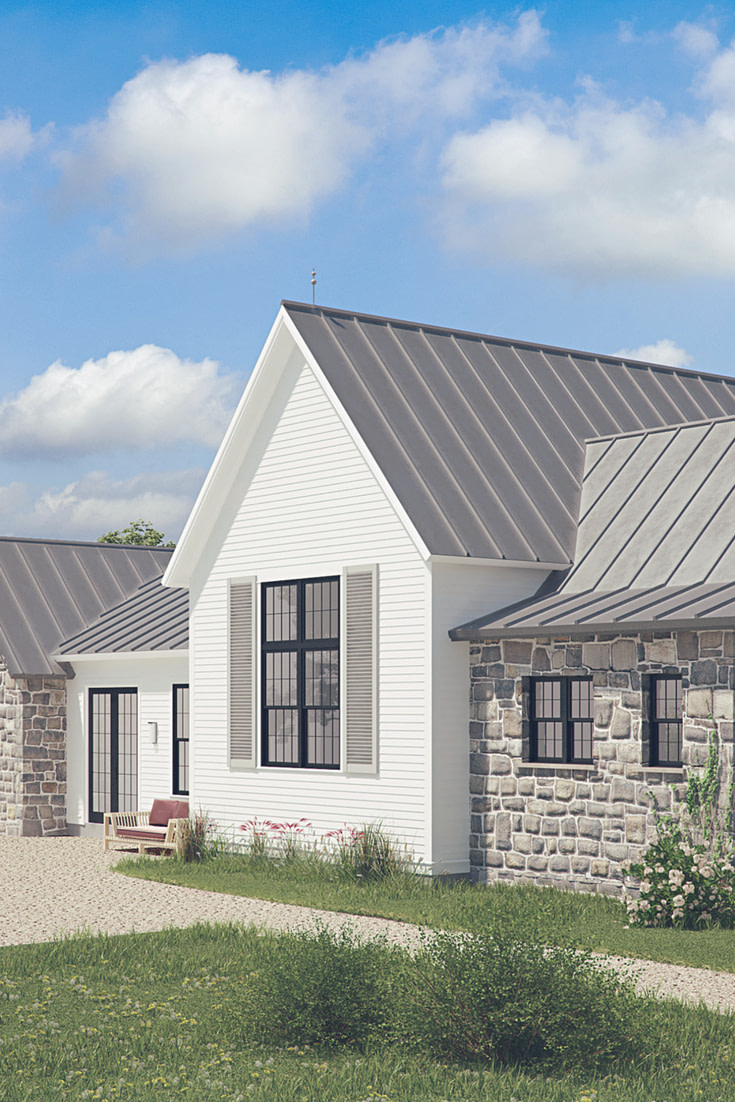 The Mirandaise! French Farmhouse Plan, Inspired with regard to White Modern Farmhouse Plans Single Story