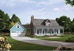 Auburn Park Country Farmhouse Plan 040D-0024 | House Plans throughout Small Country Farmhouse Plans