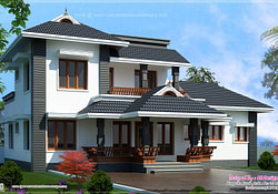 2000 Sq.feet 4 Bedroom Sloping Roof Residence | House within Modern Farmhouse Plans 1750 Sq Feet To 2000 Sq Ft 2 Bedroom