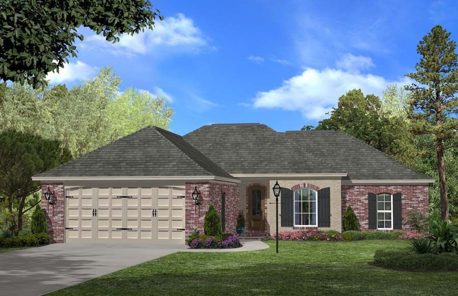 House Plan #142-1047 : 3 Bedroom, 1500 Sq Ft Ranch for Small Farmhouse Plans With Pictures