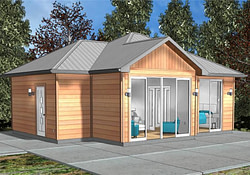 1 Bedrm, 762 Sq Ft Small (Tiny) House Plan #177-1045 throughout Small Farmhouse Plan