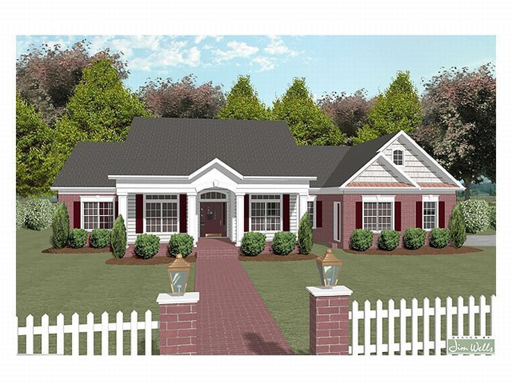 Plan 007H-0065 - Find Unique House Plans, Home Plans And inside Small One Level Farmhouse Plans