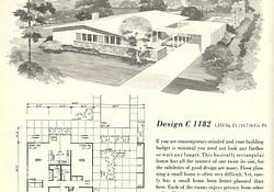Vintage House Plans 1182 throughout Mid Century Modern Farmhouse Plans