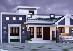 1600 Sq Ft 3Bhk Mixed Roof Modern Single-Storey House And inside Modern Farmhouse Plans 1600 Sq Ft