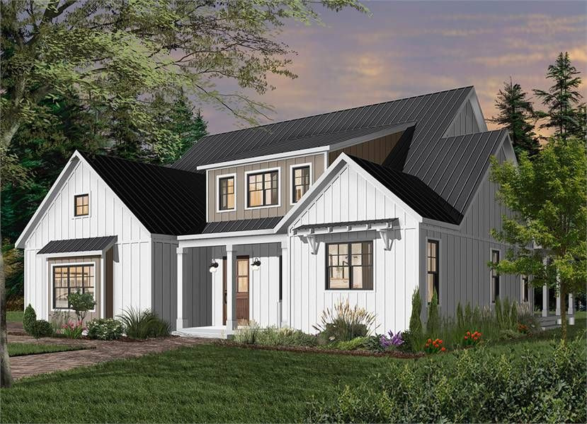 Modern Farm House Style House Plan 7334: Greenhills 2 intended for White Modern Farmhouse Plans Single Story