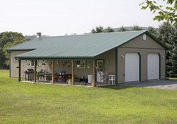 Pole Barn Lean To Design | Residential Pole Building (With with regard to 30X50 Pole Barn Plans
