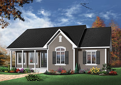 Holcomb Hill One-Story Home Plan 032D-0104 | House Plans throughout Small Farmhouse Plans Single Story