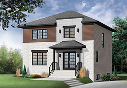 Two-Story Modern House Plan With Open Floor Plan with Modern Farmhouse Plans Open Con