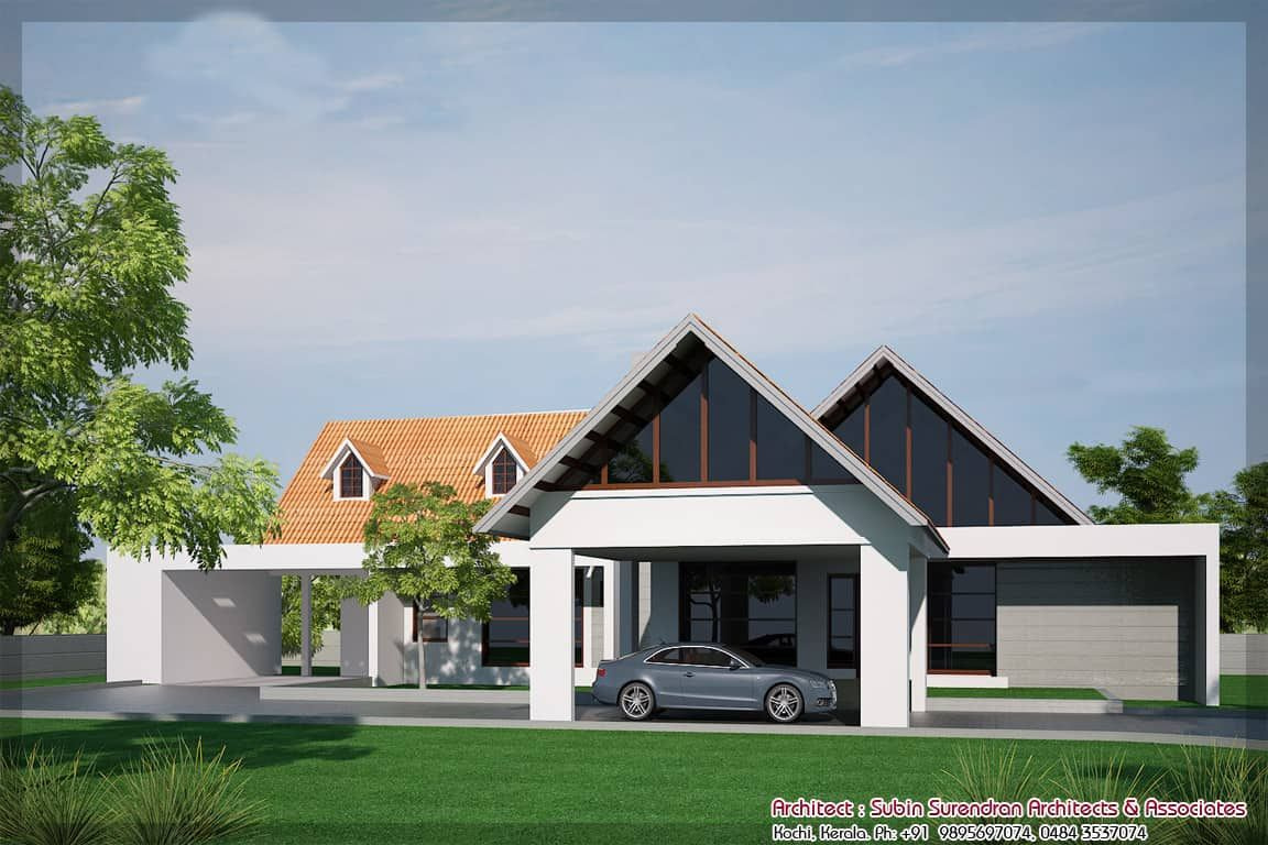 Small House Plans In Kerala - 3 Bedroom - Keralahouseplanner pertaining to Small One Level Farmhouse Plans