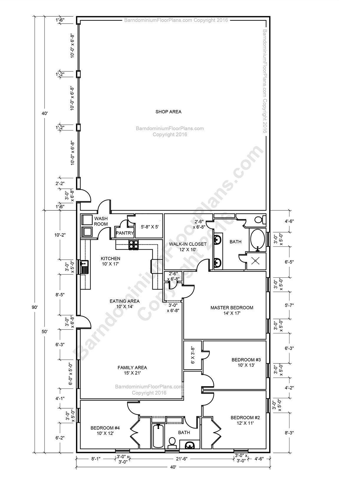 Barndominium Floor Plans, Pole Barn House Plans And Metal pertaining to Barndominium Floor Plans 5 Bedroom