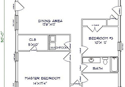 3Br 2 Bath 24X40 Home Perfect For Arch Cabin A Girl Can for Barndominium Floor Plans 20 X 40