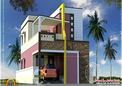 Modern Indian Home Design Small Modern House, Indian inside Small Farmhouse Plans In India