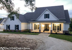 Modern Farmhouse Plan 51754Hz Comes To Life In Kansas In regarding Modern Farmhouse Lake House Plans