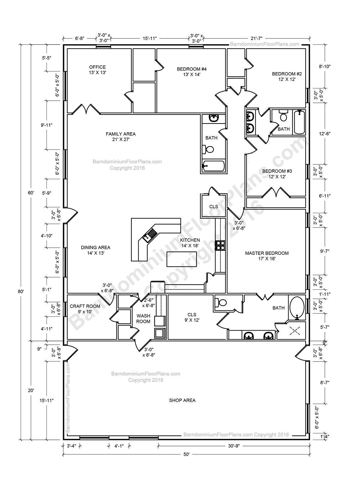 Barndominium Floor Plans, Pole Barn House Plans And Metal inside Barndominium Floor Plans 5 Bedroom