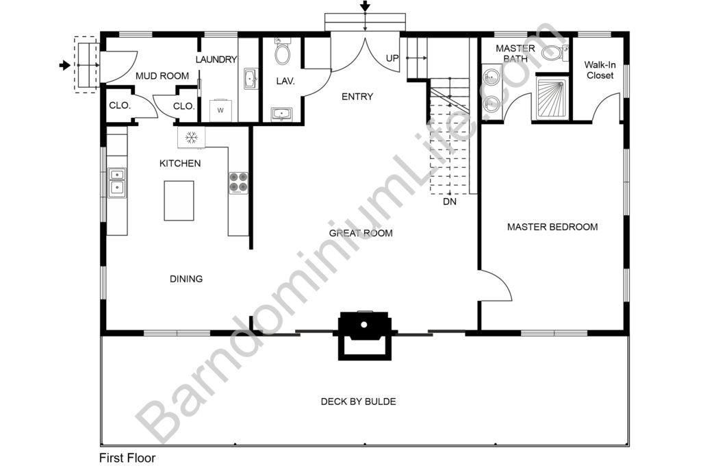 5 Great Two Story Barndominium Floor Plans intended for Barndominium Floor Plans 5 Bedroom