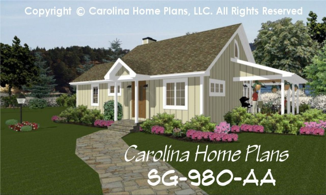Small Cottage House Plans One Story Simple Small House regarding Small One Level Farmhouse Plans