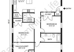 Stunning 3 Bedroom Barndominium Floor Plans - Classic Guides throughout 3 Bedroom Barndominium Plans