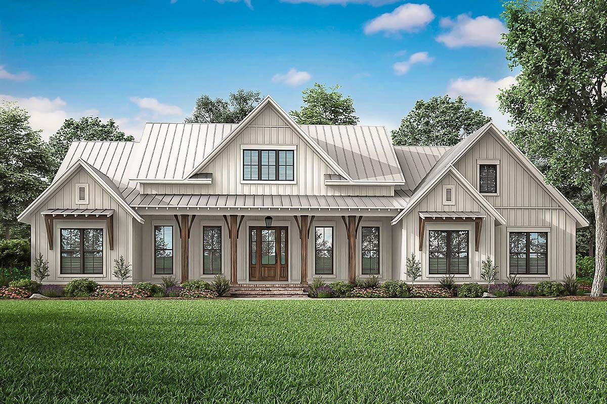 Modern Farmhouse Plans | Find Your Farmhouse Plans Today inside White Modern Farmhouse Plans Single Story