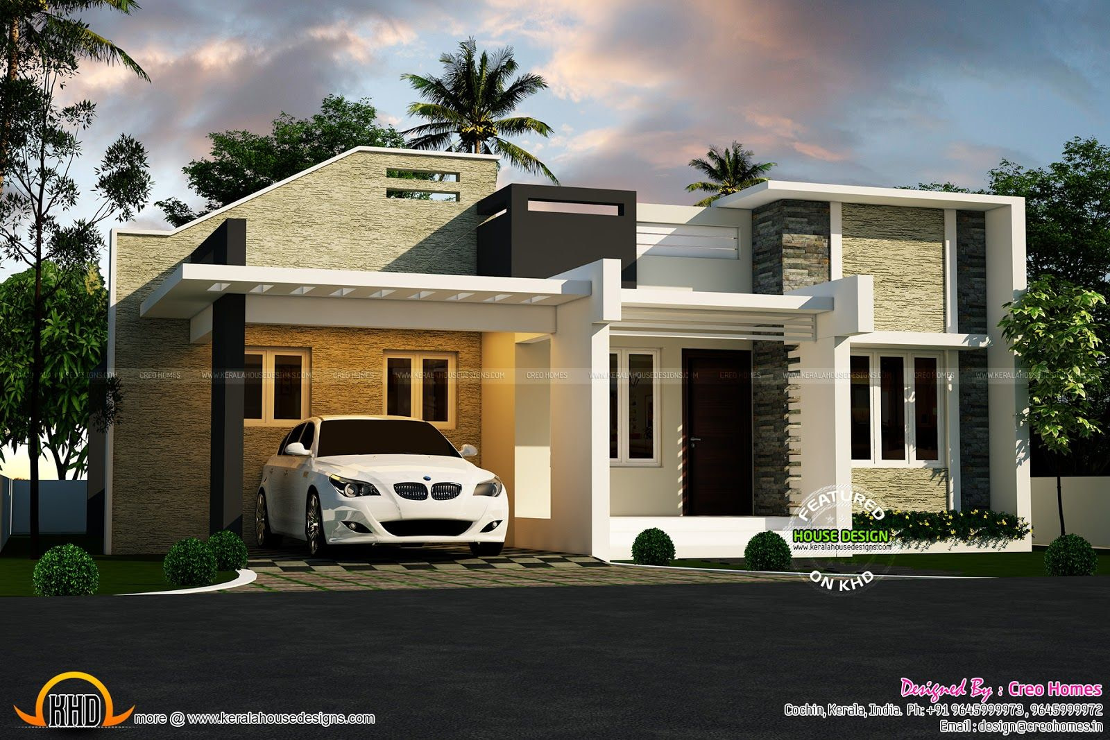 3 Beautiful Small House Plans - Kerala Home Design And within Small One Level Farmhouse Plans