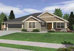 Small House Plans Craftsman Bungalow Single Story inside One Story Small Farmhouse Plans