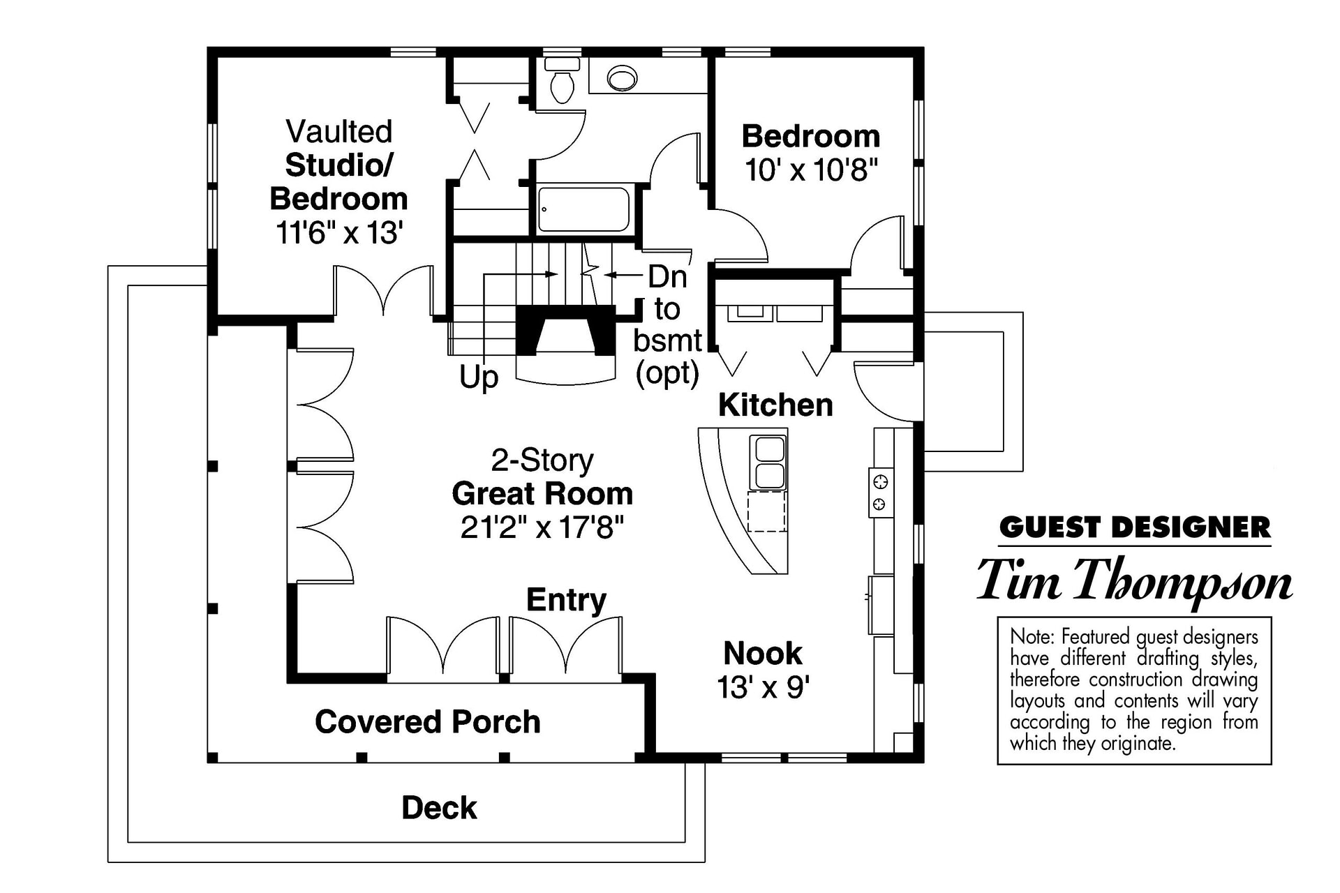 Craftsman House Plans - Cedar View 50-012 - Associated Designs pertaining to Small One Level Farmhouse Plans