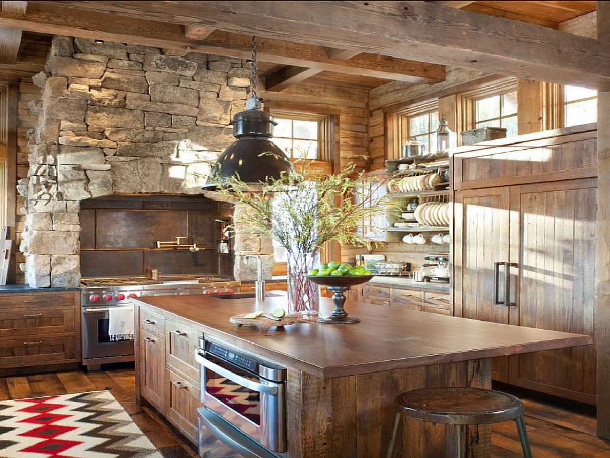 Rustic Kitchen Design Old Farmhouse Kitchen Designs, Houzz in Old Farmhouse Plans With Photos