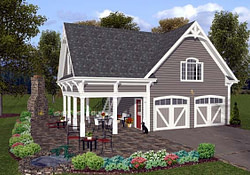 Traditional Style 2 Car Garage Apartment Plan 74803 pertaining to Garage With Living Quarters Above