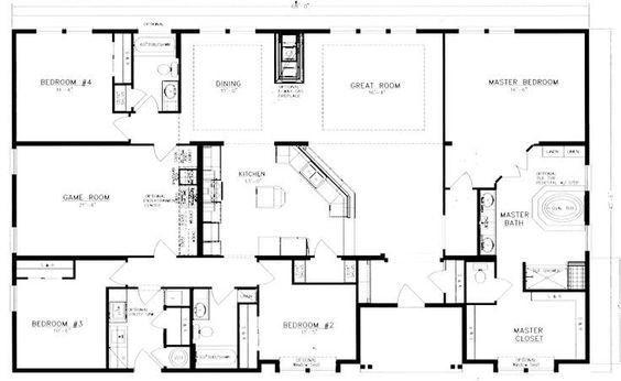 40X60 Barndominium Floor Plans - Google Search   House with regard to Barndominium Floor Plans 5 Bedroom