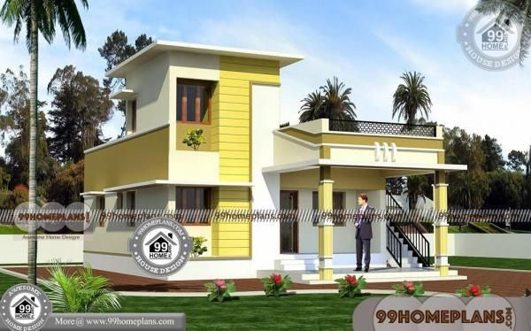 Low Cost Home Plans | One Floor Small House Plans With 3D regarding Small One Level Farmhouse Plans