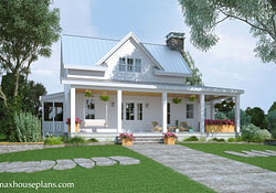 Modern Farmhouse Floor Plan With Wraparound Porch | Max in Contemporary Farmhouse Plans