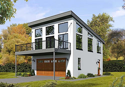 Modern Style 2 Car Garage Apartment Plan 51521 inside Modern Garage Apartment Plans