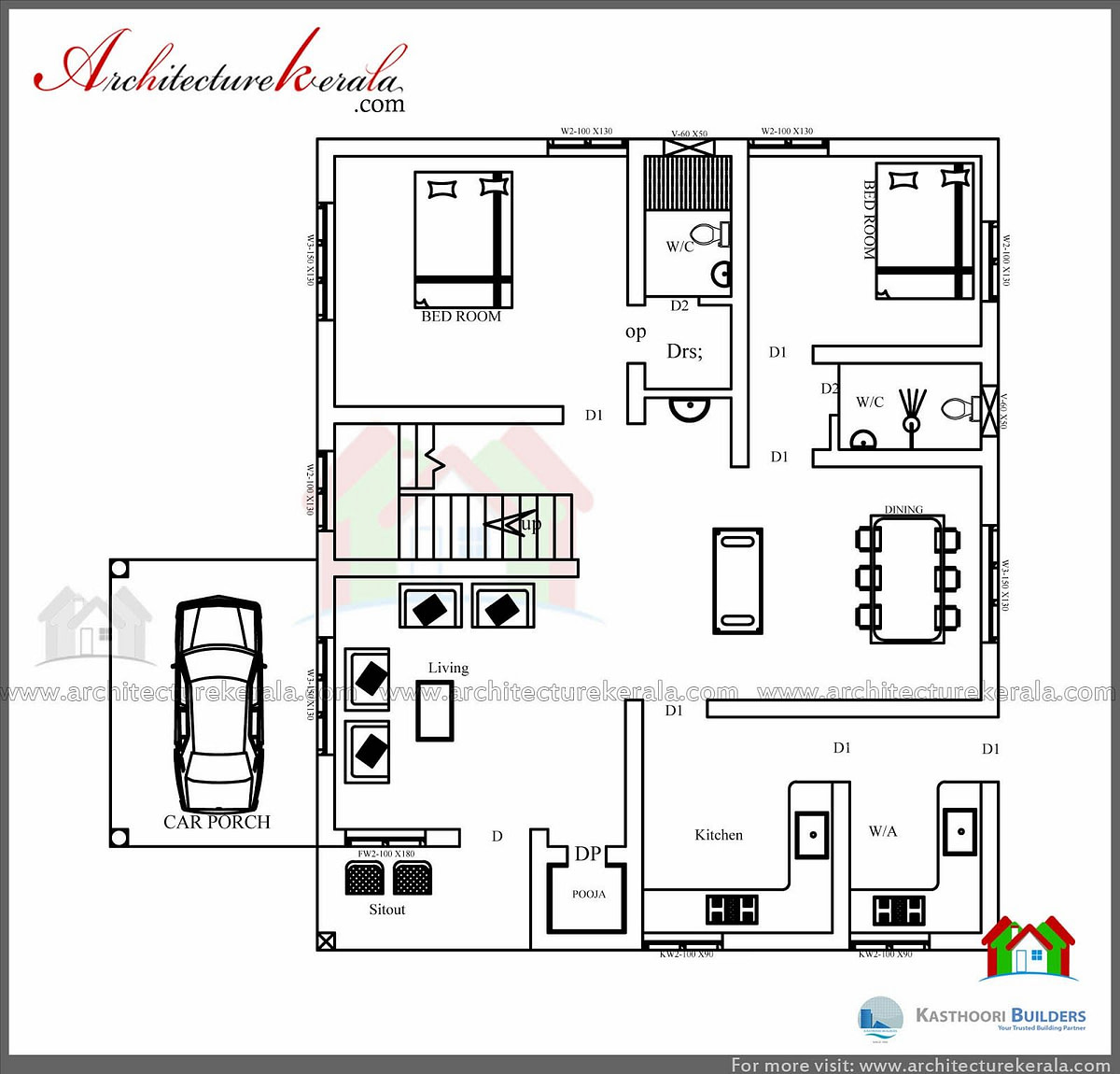 1600 Square Feet House Plan And Elevation - Architecture for Modern Farmhouse Plans 1600 Sq Ft