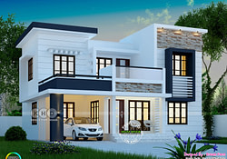 1748 Square Feet Modern 4 Bedroom House Plan | Kerala Home intended for Small 4 Bedroom Farmhouse Plans