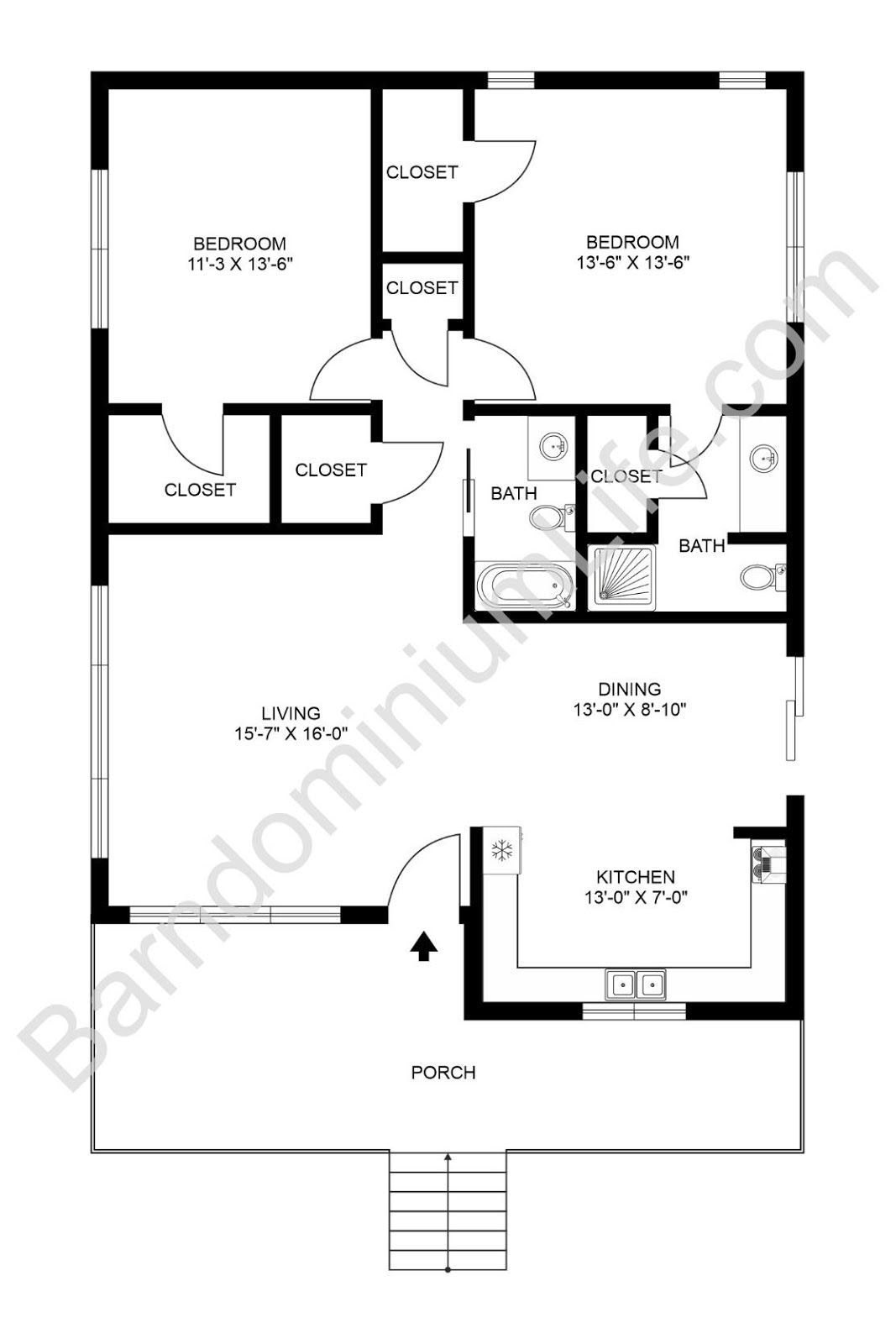 Pin On Tiny Houses pertaining to Barndominium Floor Plans 5 Bedroom