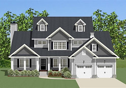 Luxury House Plan #189-1092: 4 Bedrm, 2715 Sq Ft Home in Small Farmhouse Blueprints