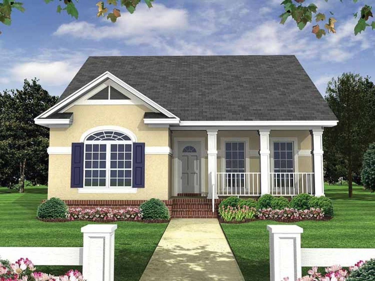 Simple Small House Floor Plans Small Bungalow House Plans inside Small One Level Farmhouse Plans