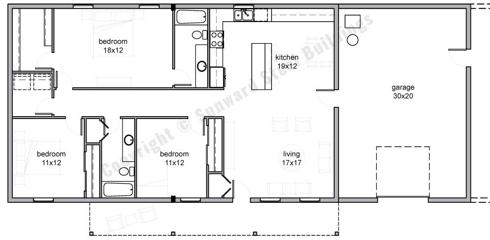 Barndominium Floor Plans   Review Home Decor for Barndominium Floor Plans 5 Bedroom