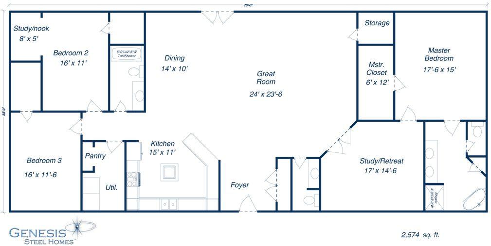 Oconnorhomesinc   Terrific 40X50 Barndominium Floor throughout 40X50 Barndominium Floor Plans With Shop