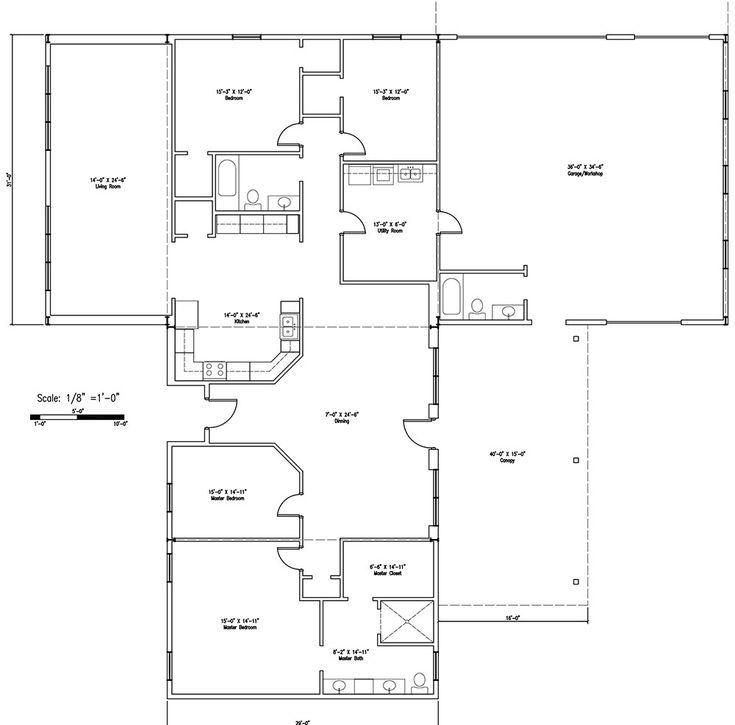 262 Best Barndominium Floor Plans Images On Pinterest pertaining to Barndominium Floor Plans 5 Bedroom
