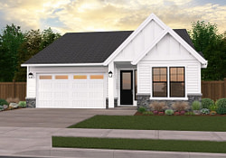 Elegant | One-Story Country House Planmark Stewart throughout Modern Farmhouse Plans One Story