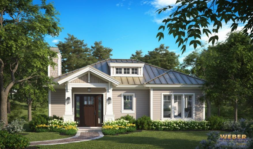 Small House Plan: 1 Story Cottage Style Home Floor Plan with regard to Small One Level Farmhouse Plans