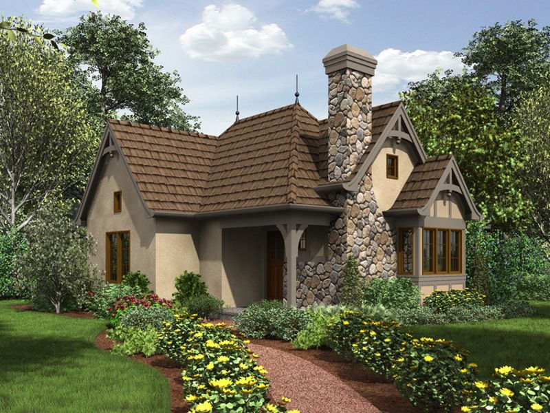 Maxton Tudor Cottage Home Plan 011D-0312 | House Plans And throughout Small One Level Farmhouse Plans