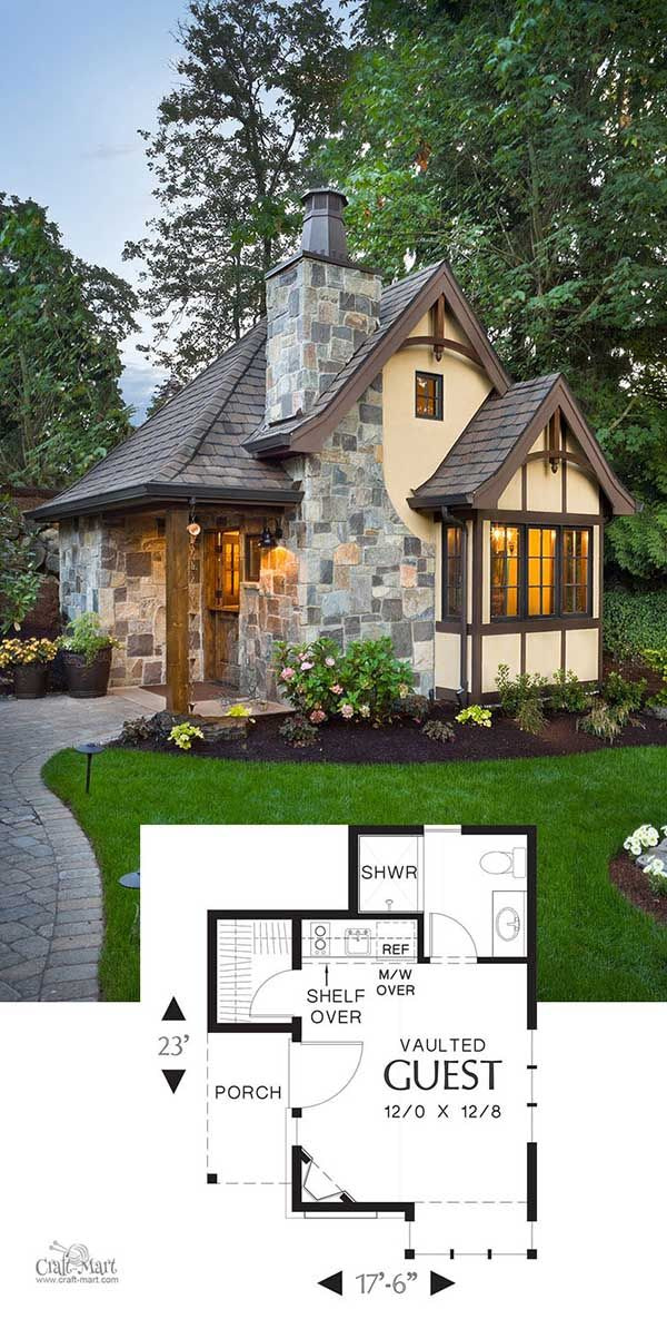 27 Adorable Free Tiny House Floor Plans - Craft-Mart pertaining to Small One Level Farmhouse Plans