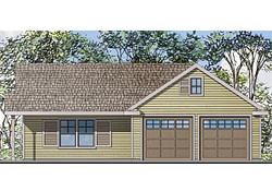 Garage Plan With Flex Space | Two-Car Garage Plan With inside 1 Story Garage Apartment Plans