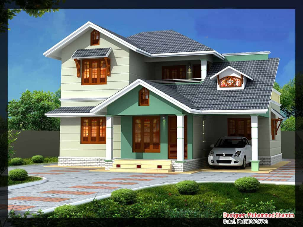 Villa Design In India (With Plan And Elevation) : 1637 Sq.ft in Small Farmhouse Plans With Pictures