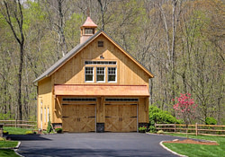 Carriage Barn: Post And Beam 2-Story Barn: The Barn Yard with 24 X 24 Pole Barn Plans