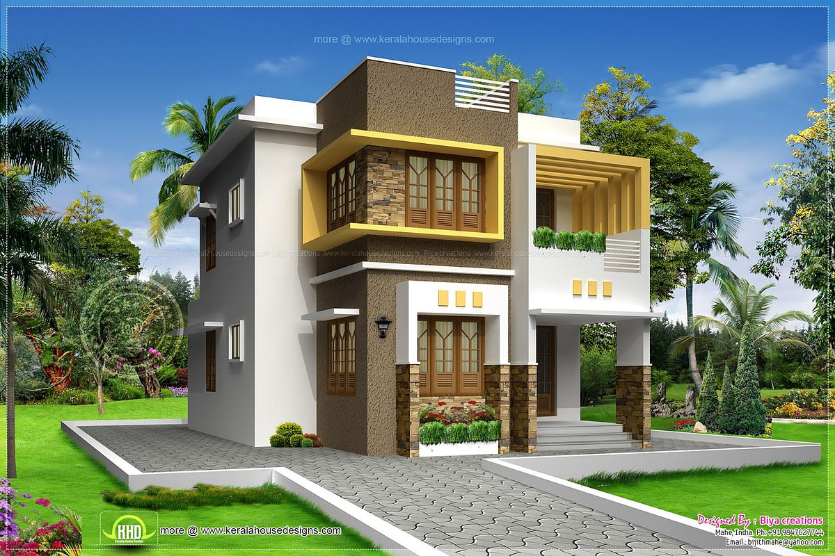 Small Double Storied Contemporary House Design | Home in Modern Farmhouse Plans 1600 Sq Ft
